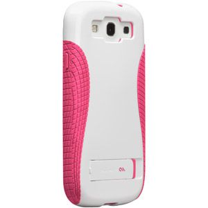 Case-Mate Pop! Case with Stand for Samsung Galaxy S III, White/Honeysuckle