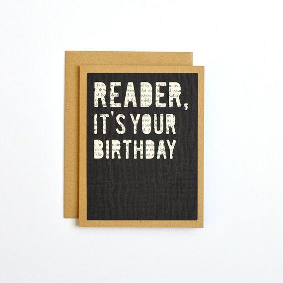 Book Lover Birthday Card Jane Eyre Charlotte Bronte Literary – Birthday Card Book