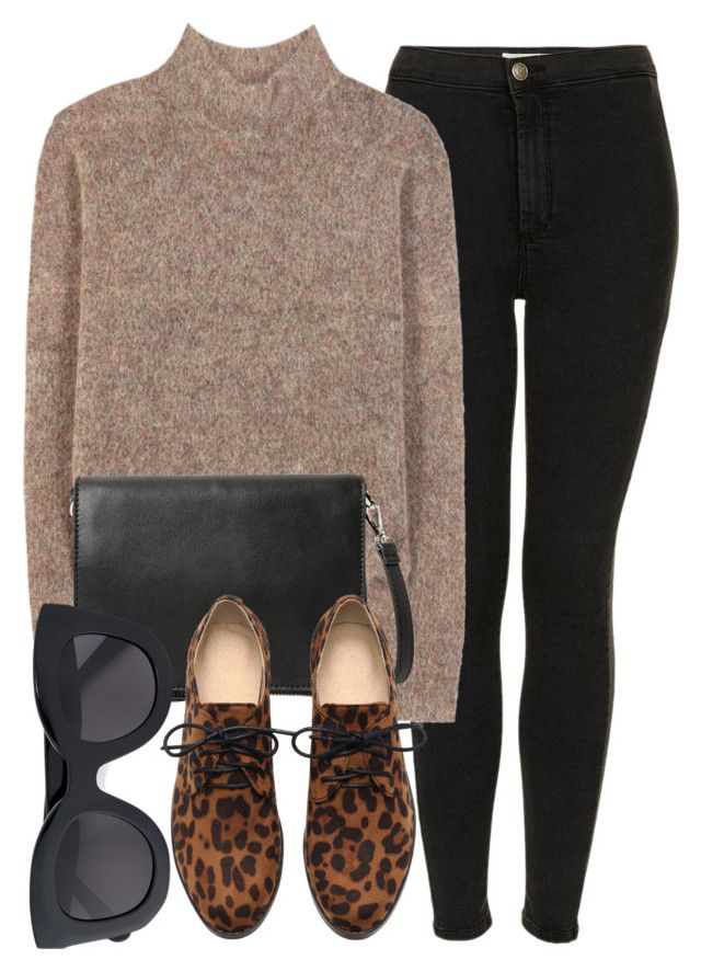 """Untitled #4976"" by laurenmboot ❤ liked on Polyvore featuring Topshop, By Malene Birger, MANGO and CÉLINE"