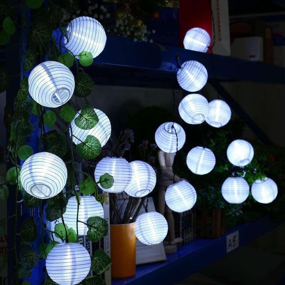 Metable 26 2ft 30 Led Garden Solar Lights Waterproof Solar Fairy Lights For Summer Garden Party F Solar Lichterkette Solarleuchten Garten Lichterkette Draussen