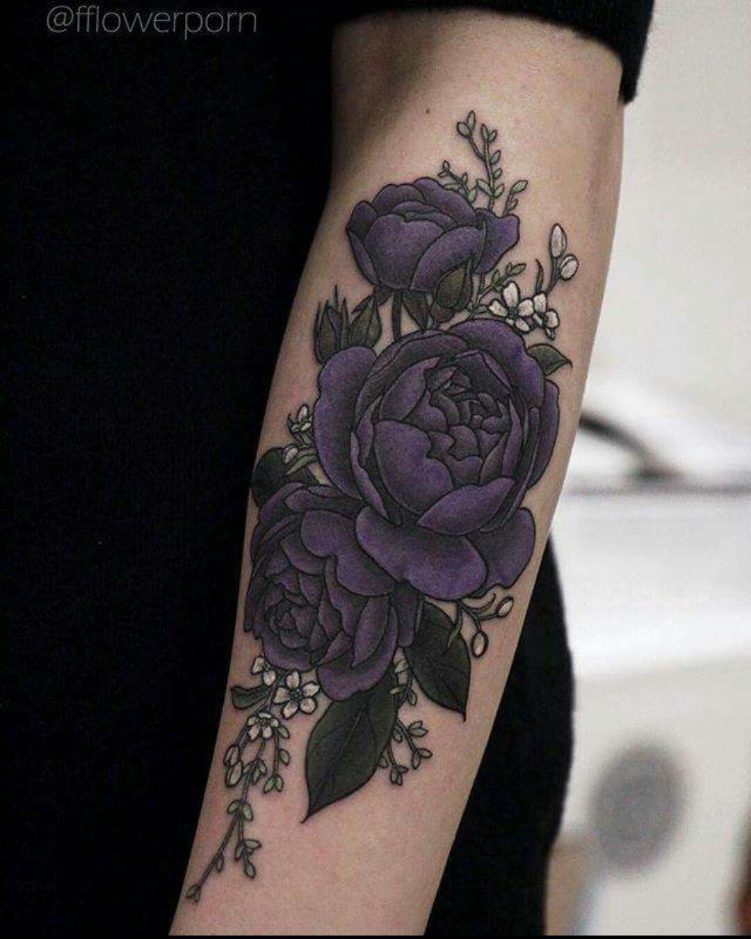 87395d356 Beautiful Dark Roses Tattoo, Black Flower Tattoos, Black Rose Tattoo  Coverup, Purple Lotus