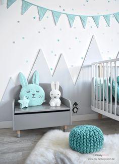 Wandgestaltung im Kinderzimmer: DIY Idee mit Bergen