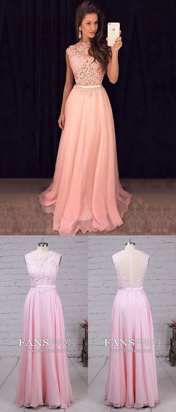 Pink Prom Dresses,Long Prom Dresses For Teenagers,Simple Prom ...