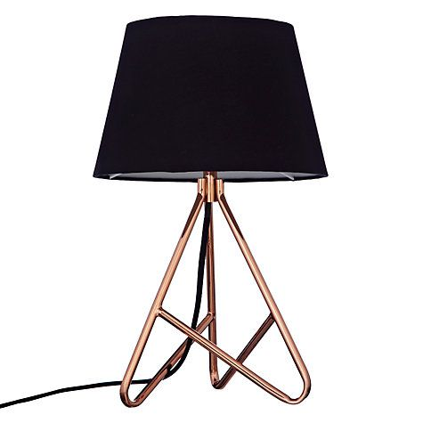 John lewis albus twisted table lamp black copper john lewis buy john lewis albus twisted table lamp online at johnlewis aloadofball Image collections