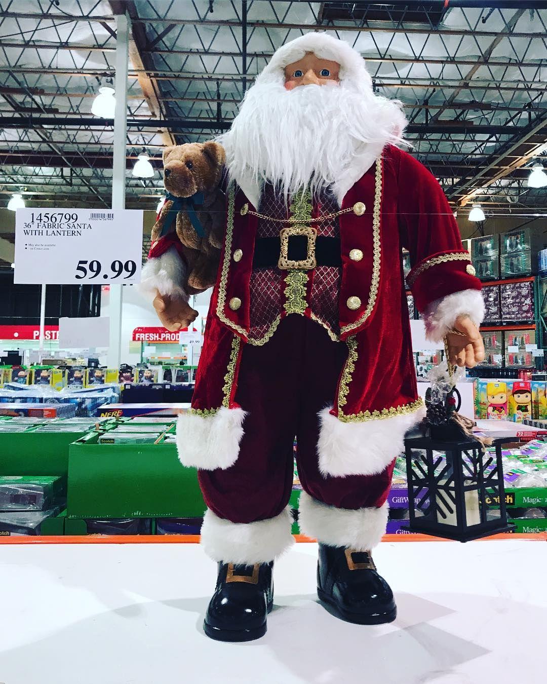 "36"" Fabric #santaclaus With #lantern $59.99 #christmas"