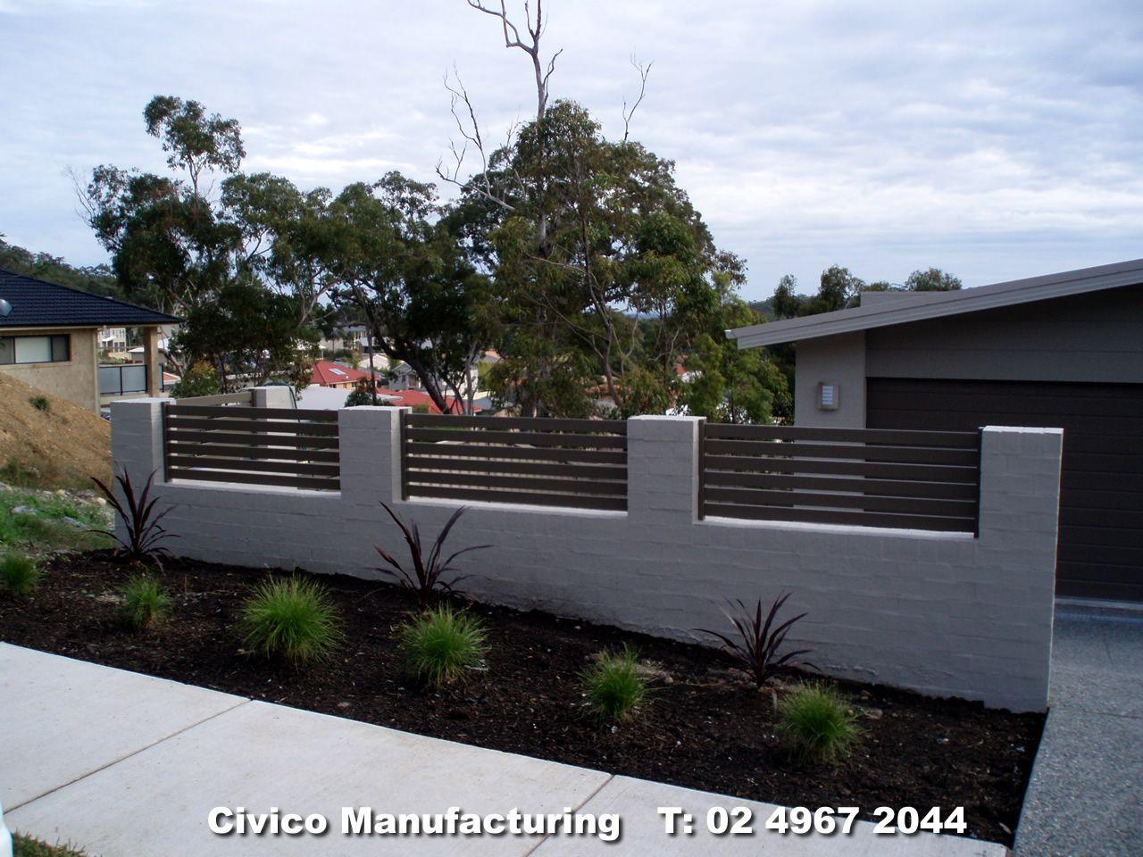Aluminium horizontal slat fencing our house vorgarten zaun zaun garten - Zaun vorgarten ...