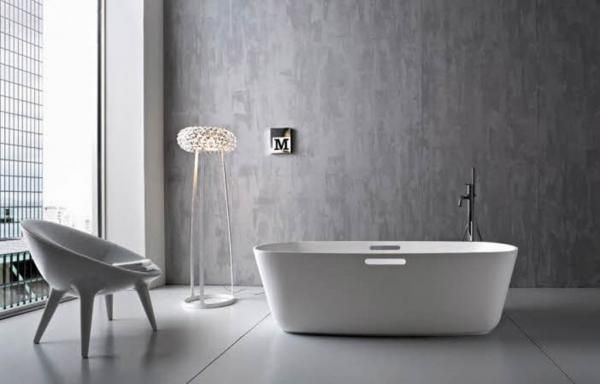 Grey Bathroom Designs Mesmerizing Simple Light Grey Bathroom Ideas With White Furniture  Bathroom Design Inspiration