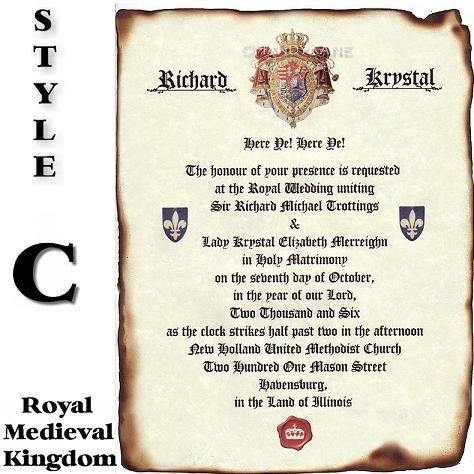Sale 28 off qty 50 Wedding Invites Scroll Invitations Royal