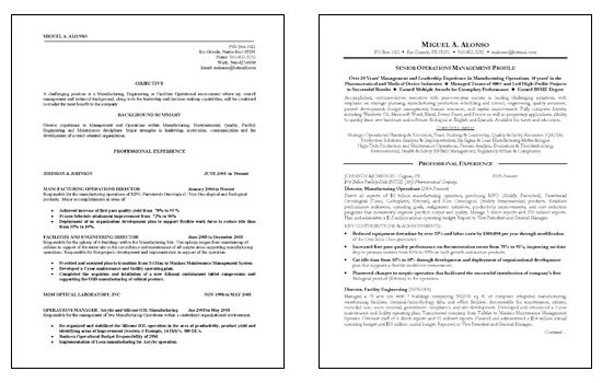 Manufacturing Operations Resume Example Resume examples and Sample