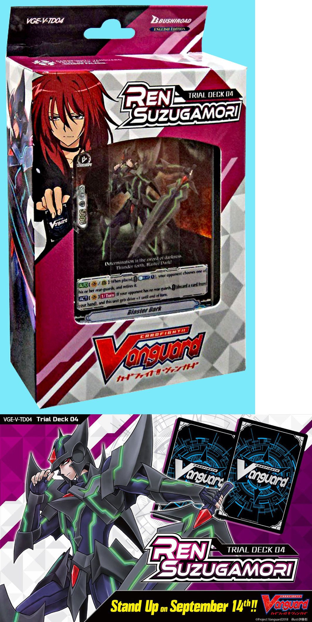 Other CCG Items 2535: Cardfight Vanguard Vge-V-Td04 Ren Suzugamori English  Trial Deck Shadow Paladin -> BUY IT NOW ONLY: $17.39 on #eBay #other #items  ...