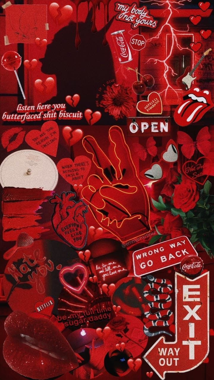 a red aesthetic yaaaaaaasssssssssssss Iphone wallpaper