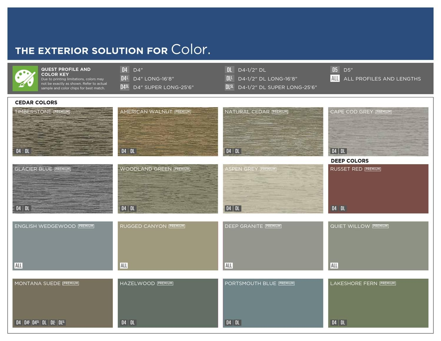 Info On Mastic Quest Vinyl Siding Colors Prices Profiles And Options