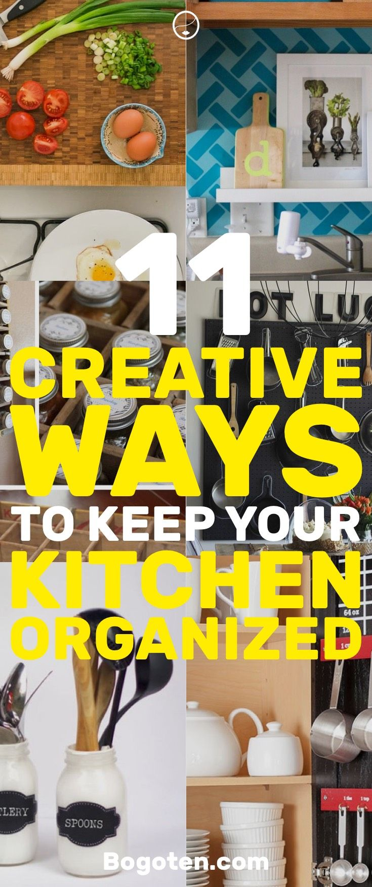 11 Creative Ways To Keep Your Kitchen Organized