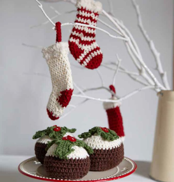 Crochet Christmas Pudding And Stocking Pattern By Ruby Custard
