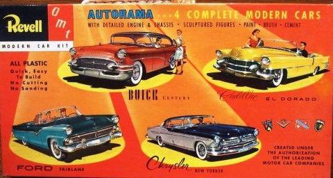 Revell Amt 1955 4 Car Autorama Model Car Kit Model Kit Box Art