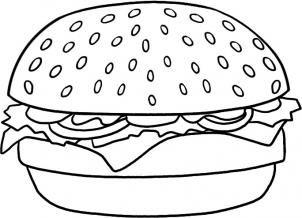 7wg How To Draw A Hamburger Step 5 Jpg 302 218 Food Coloring Pages Free Kids Coloring Pages Burger Drawing