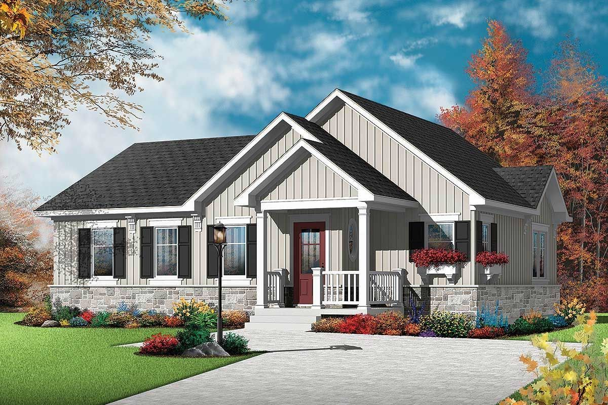 Plan 22377DR OneStory House Plan with Open Layout in