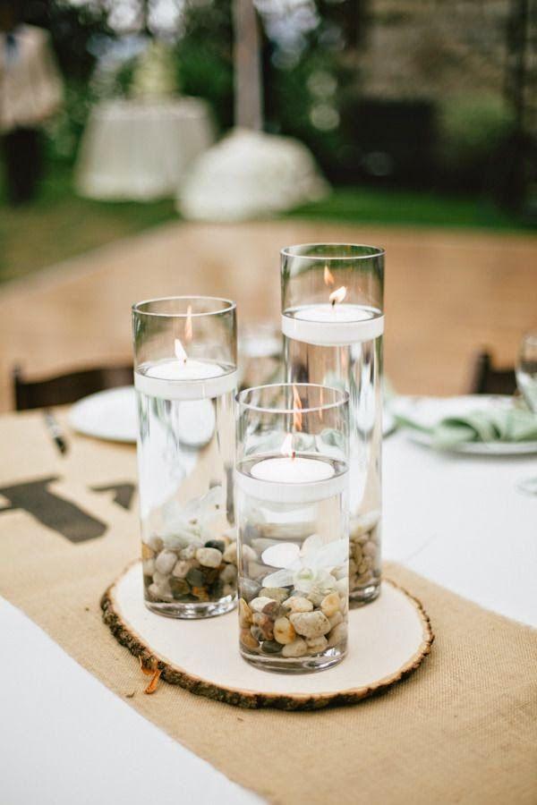 17 centros de mesa para bodas con velas flotantes bodas - Centros con velas ...