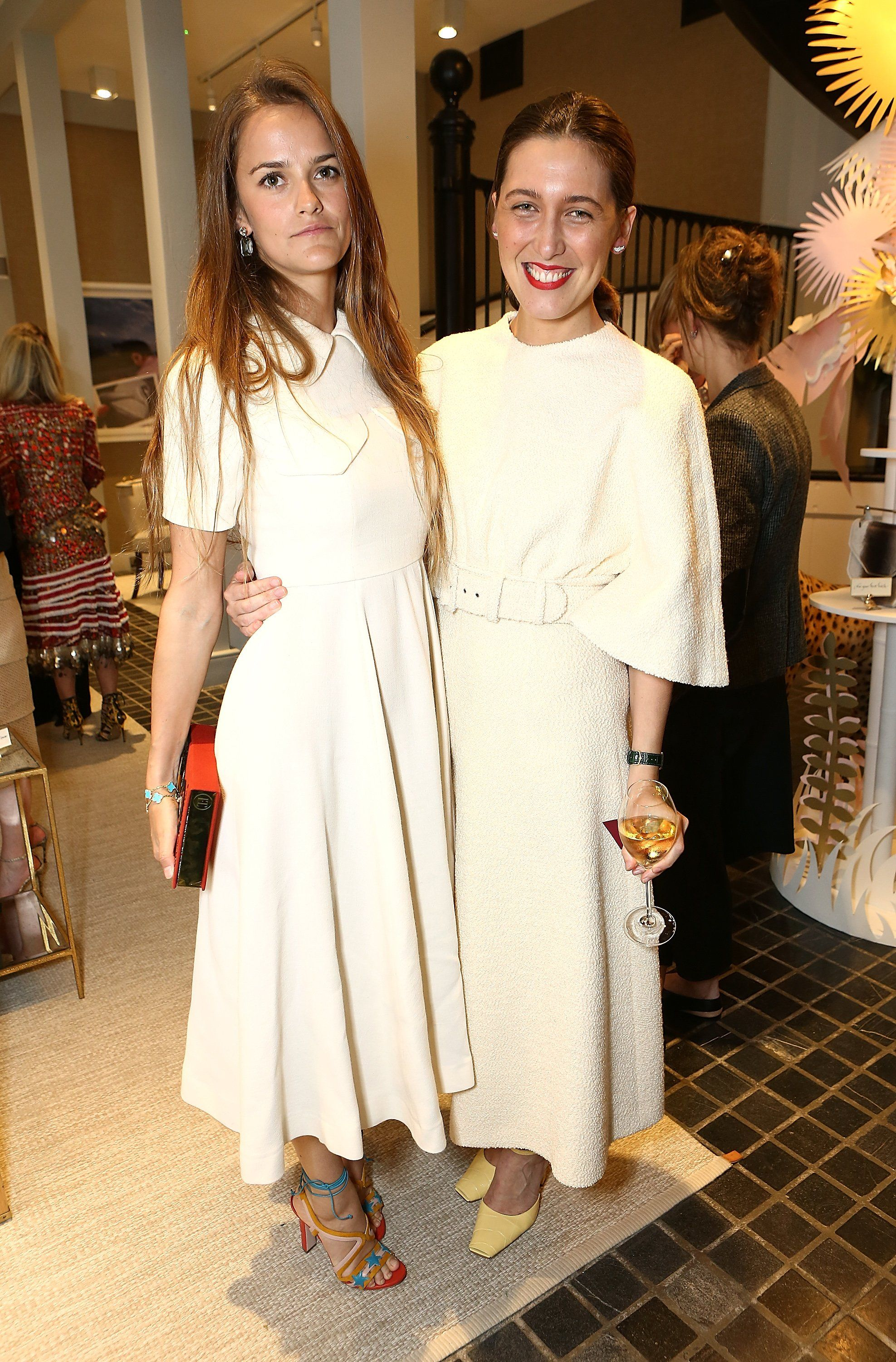 Charlotte Wellesley and Emilia Wickstead: white Winter dresses