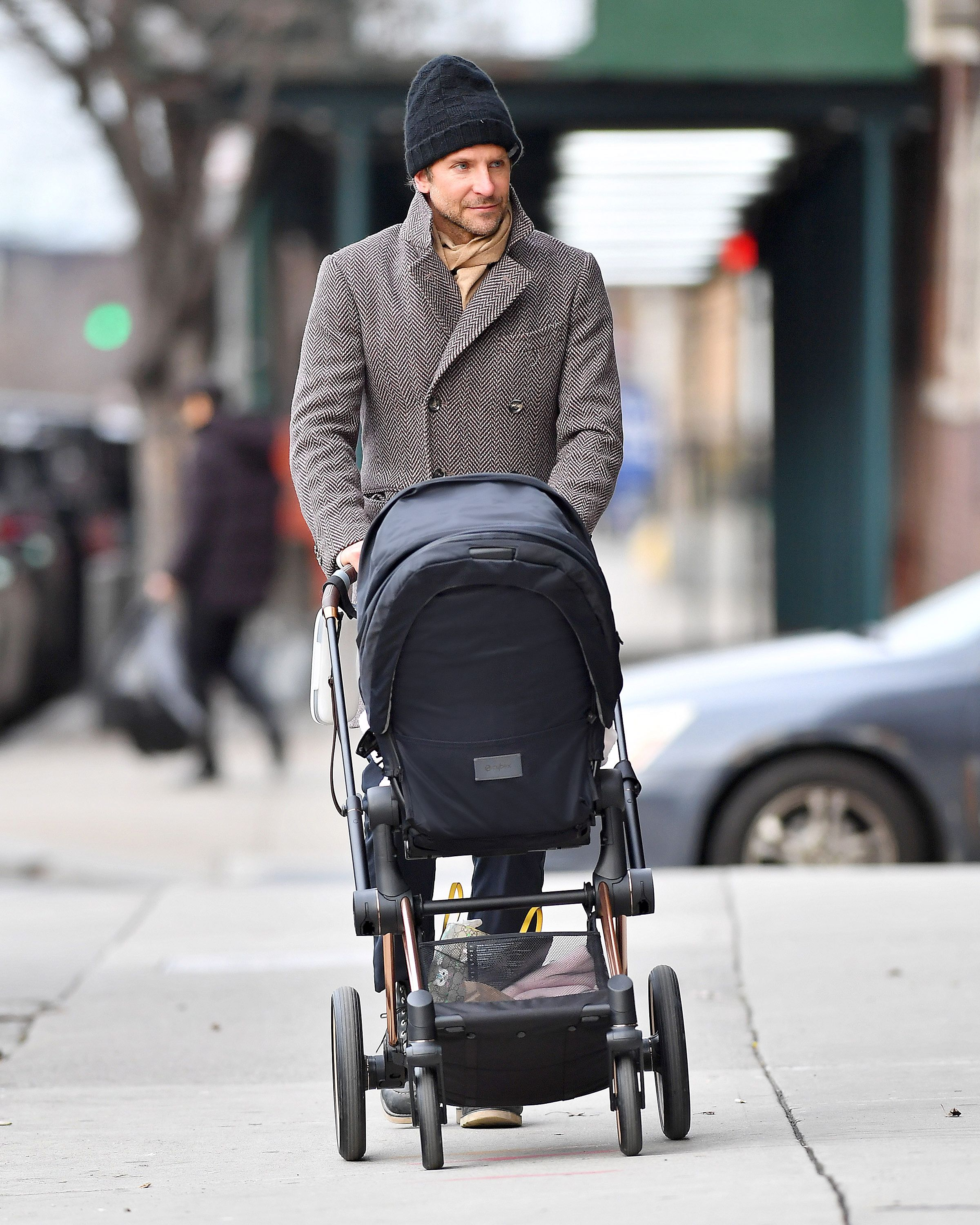 Actor Bradley Cooper seen with the The New CYBEX Priam