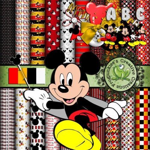 Mickey Mouse Digital Scrapbook KIT | FrogjunkieesCreativeCreations - Digital Art  on ArtFire