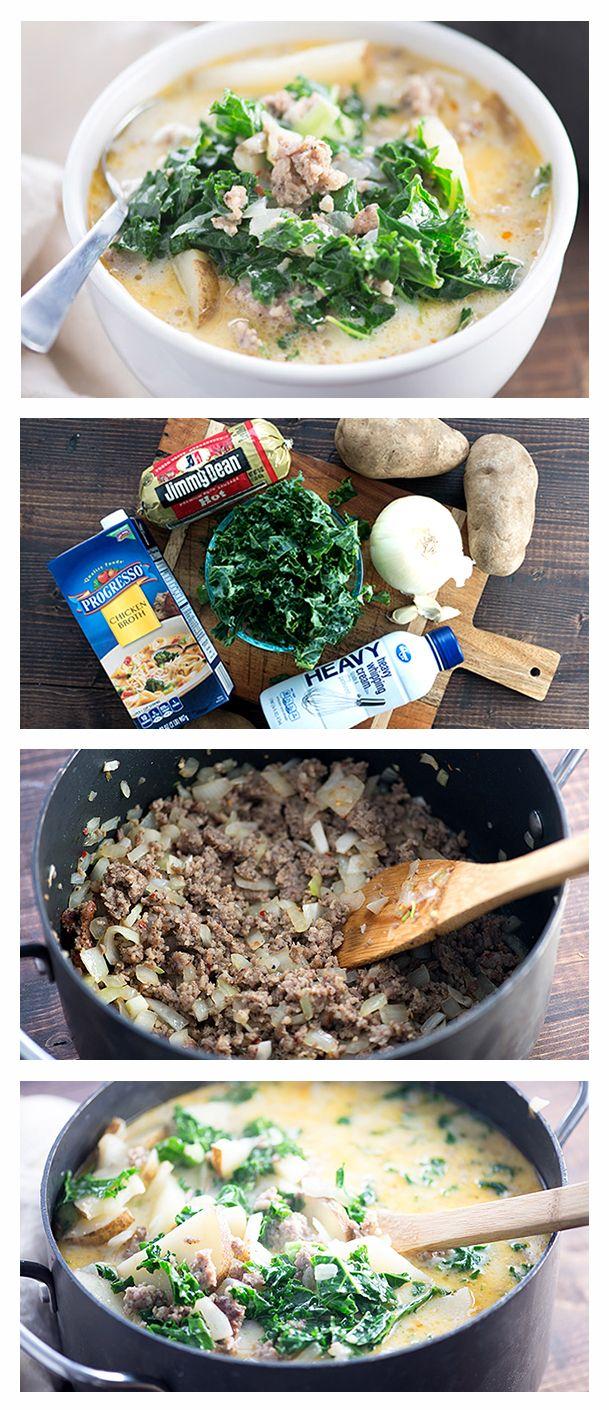 Copycat Olive Garden™ Zuppa Toscana Soup #zuppatoscanasoup