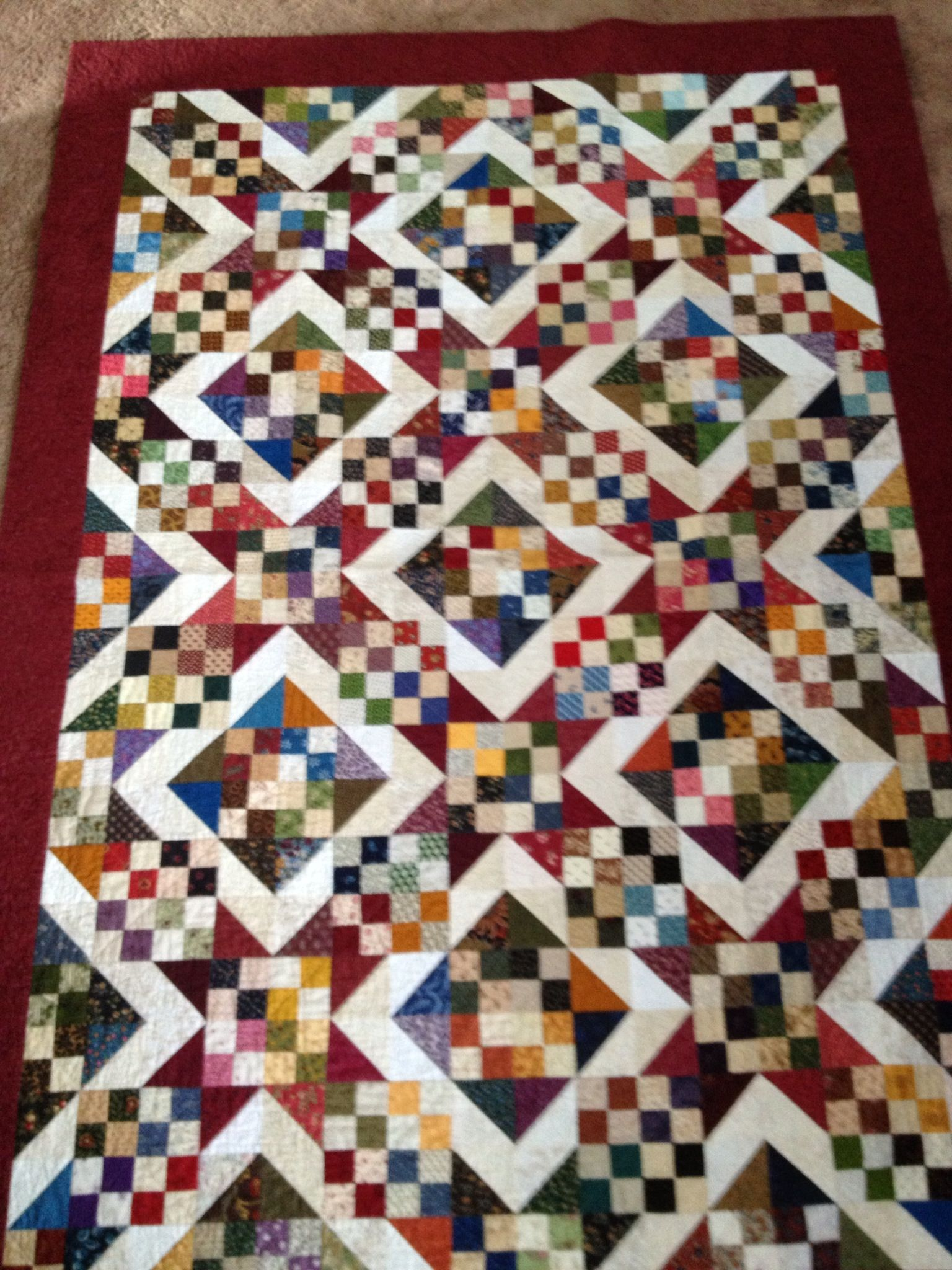 Pattern from the Nickel Quilts book.
