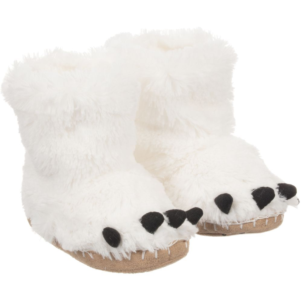 6e1c192b127 adult white monster slippers - Google Search
