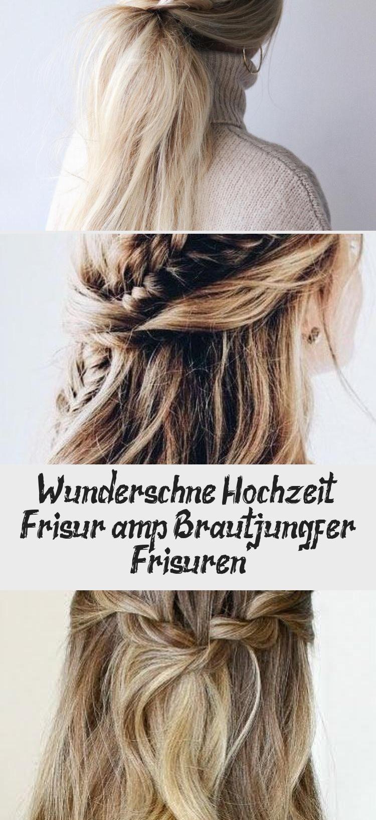 Wunderschone Hochzeit Frisur Brautjungfer Frisuren In 2020 Long Hair Styles Hair Styles Beauty