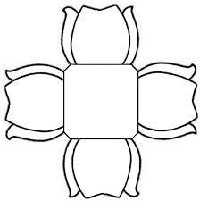 Resultado de imagem para molde de forminha de doce de papel