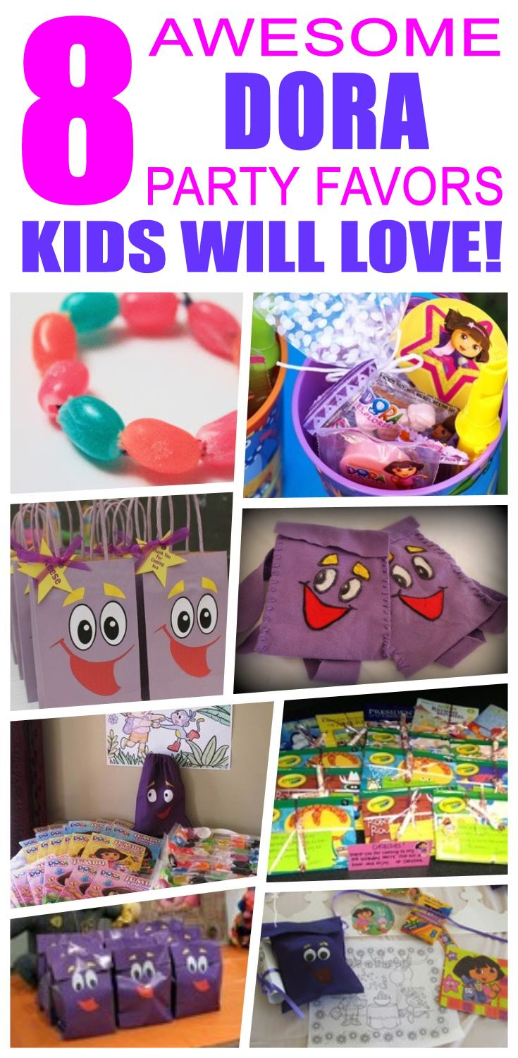 Dora Party Favor Ideas Party favour ideas Loot bags and Goody bags