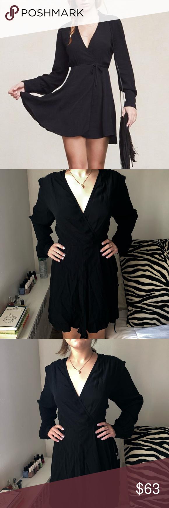 Reformation wrap dress my posh closet pinterest dresses wrap