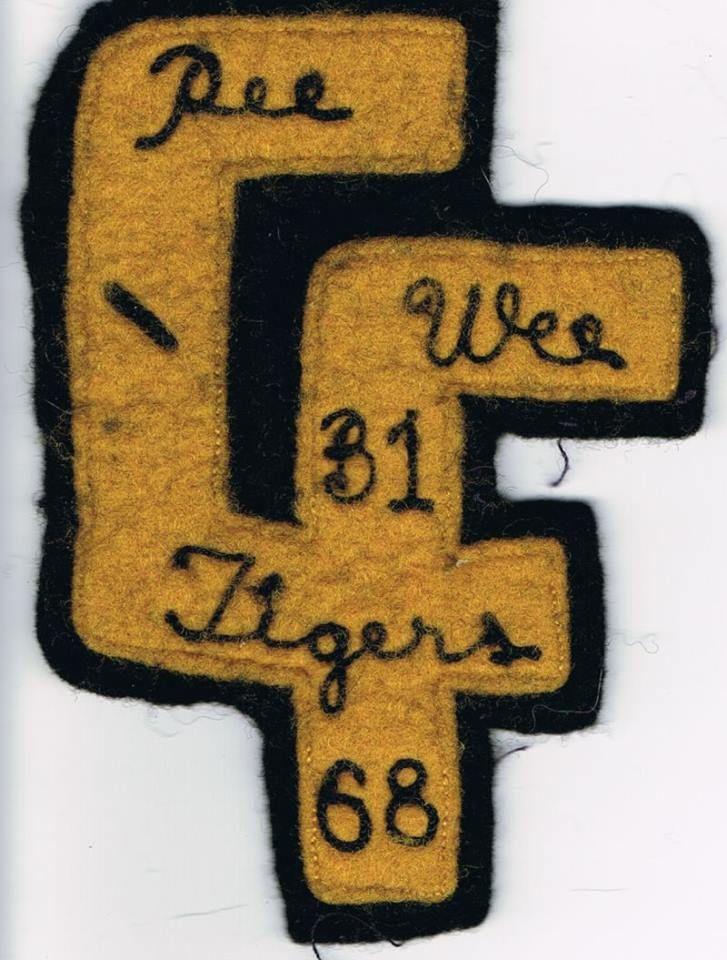 1968 Cuyahoga Falls, OH Pee Wee Black Tigers logo - Courtesy of - courtesy clerk