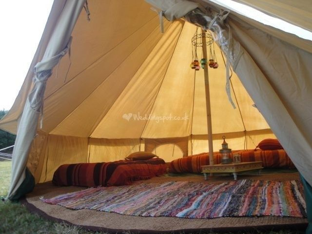 Bell Tent Decor Bell Tent Wedding Guest From Cariad Canvas  Photo 13  Dft