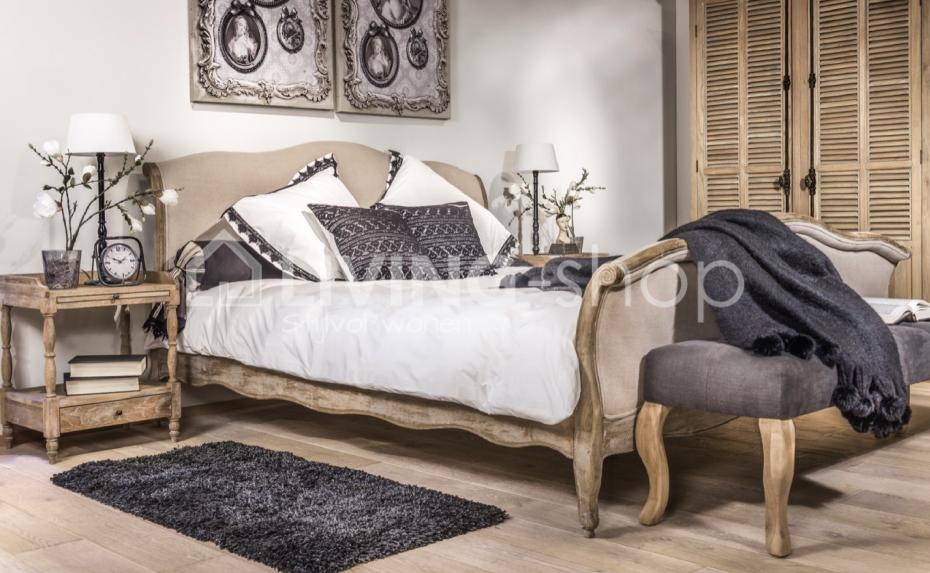 Slaapkamer Country Style : Eiken landelijk bed voor de landelijke slaapkamer bij livingshop