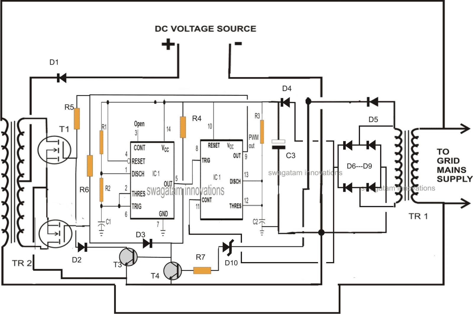 Designing A Grid Tie Inverter Circuit In