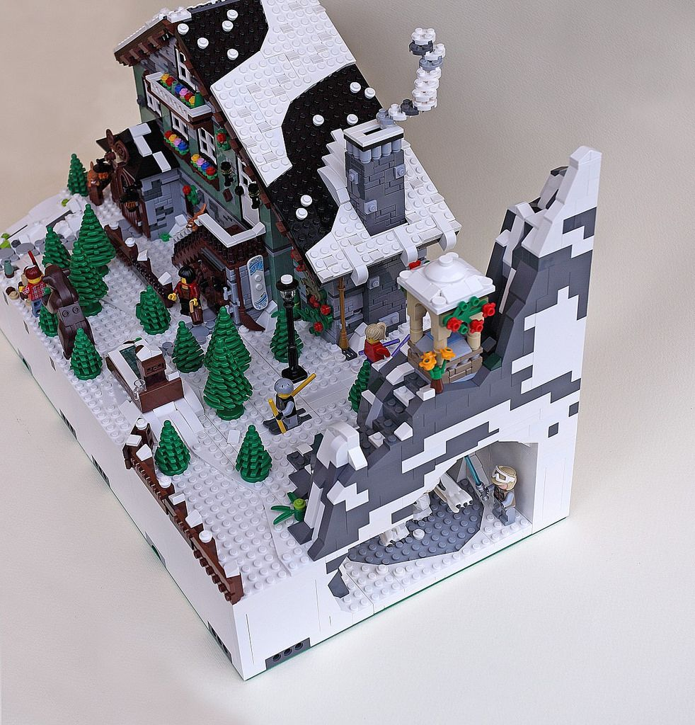 Mod G1 H1 Winter Chalet 03 Lego christmas sets, Lego