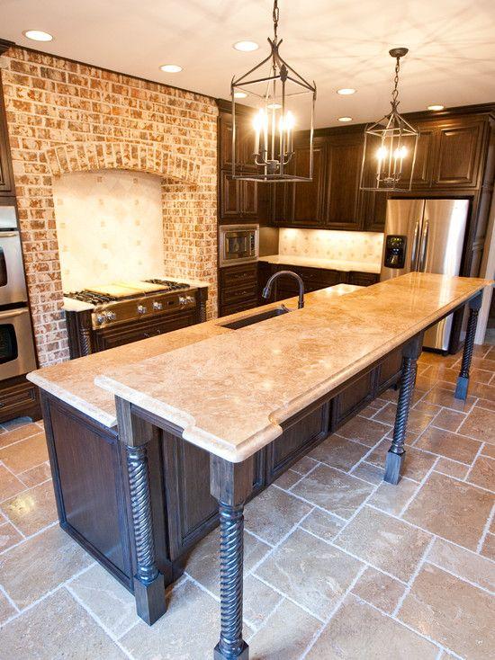 Kitchen Travertine Countertop Home Decor Kitchen
