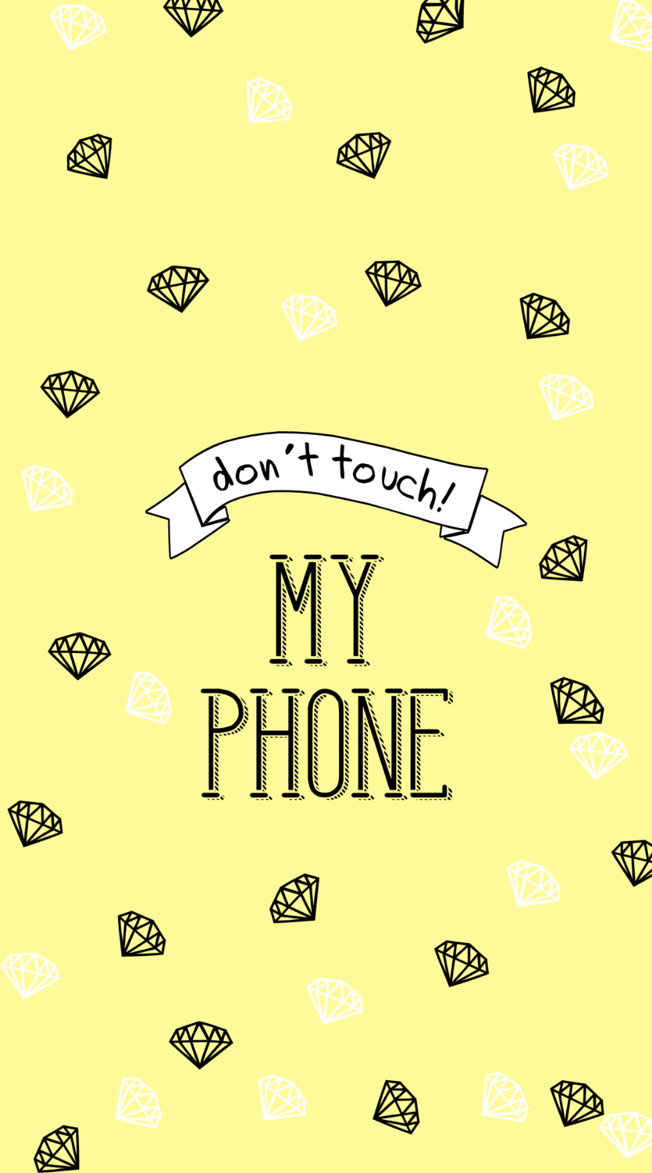 Wallpaper Phone Freetoedit Wallpaper Wallpaperedit Wallpaperphone Yellow Diamonds Dontto Dont Touch My Phone Wallpapers Wall Paper Phone Phone Wallpaper