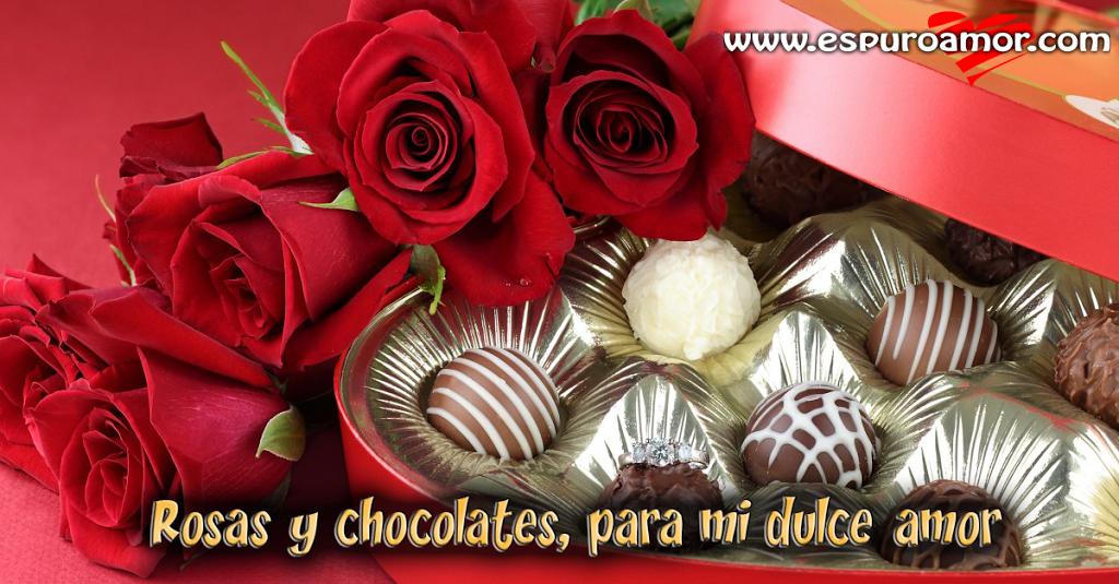 Comparte en facebook esta frase en cualquier momento con imagen de rosas y chocolates - http://goo.gl/VsR6pi #Imagenesderosas