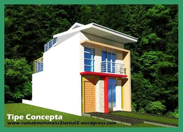Rumah Minimalis 2 Lantai Void rumah minimalis 2 lantai tipe concepta bisa muat di kavling