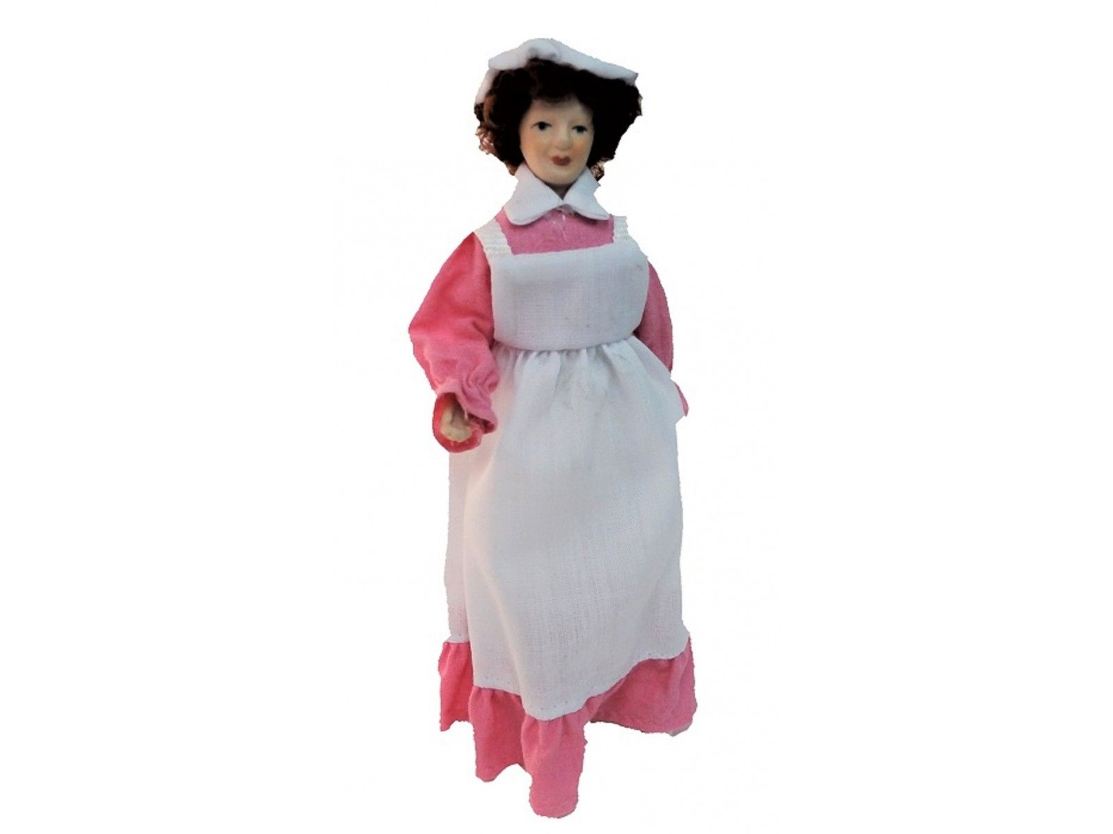 Melody Jane Dolls House Victorian Servant Maid Cook in Grey Porcelain People