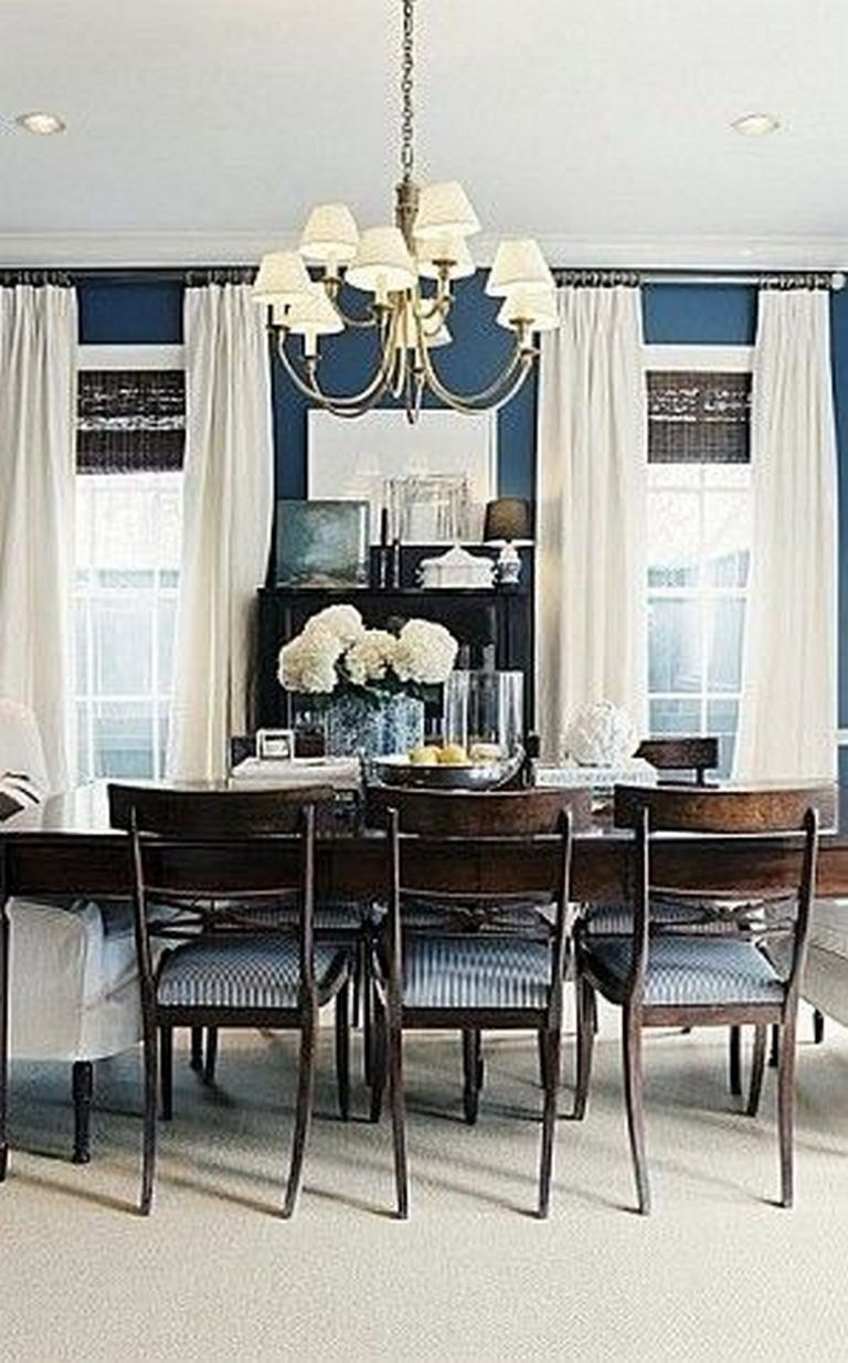 10 Beautiful and Unique Blue Farmhouse Dining Room to Copy