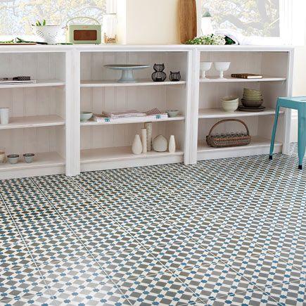 Pavimento 45x45 cm azul antideslizante serie henley ref - Leroy merlin pintura azulejos ...