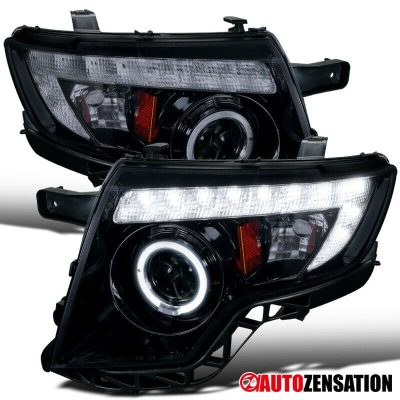 Ad Ebay For 2007 2010 Ford Edge Led Drl Glossy Black Smoke Halo Projector Headlights Projector Headlights Black Smoke Ford Edge