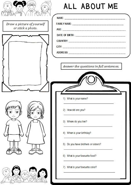 Pin by Kelsey Cole on Teaching | All about me worksheet ...