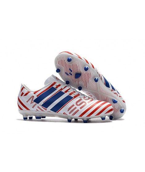 info for 67dba 797b6 Adidas Messi Nemeziz 17.1 FG FODBOLDSTØVLE BLØDT UNDERLAG fodboldstøvler  hvid rød blå