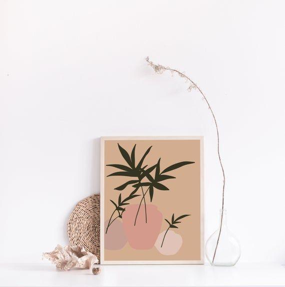 Items similar to terracotta print, botanical abstract art, burnt orange print, minimalistic plant art, terracotta illustration, minimalistic art print, boho on Etsy -   14 minimalist planting Art ideas