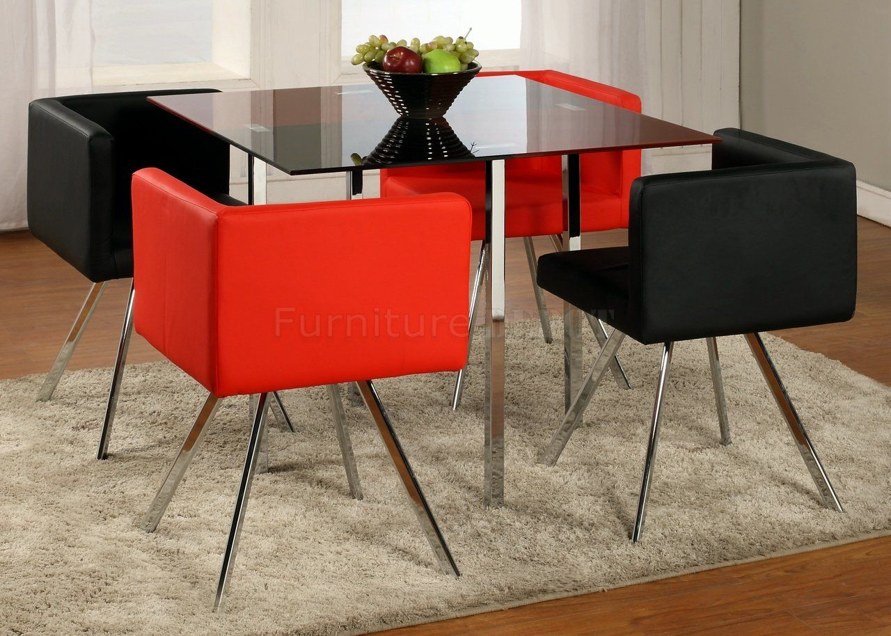 Beautiful Breathtaking Red And Black Dining Sets