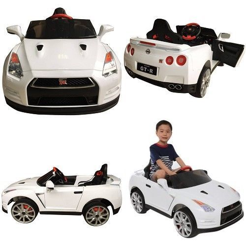 Toddler Electric Car Nissan Gtr R35 Kids Ride On 12v Battery 1 Seater Mp3 Gift Wonderlanes